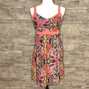 Dresses & Skirts - Coral and grey floral sporty sundress
